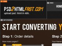 PSD 2 HTML FAST
