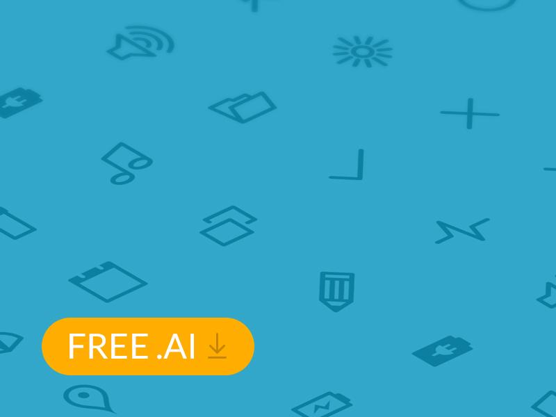 [FREE] Flat Icons Set 2 icon weather flat ai coffee freebie graph ipad iphone set vector ui