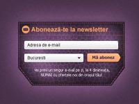 Newsletter Sign-Up Box