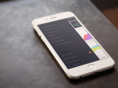 Responsive Mobile Menu icons menu app ios iphone 6 graph list rankings