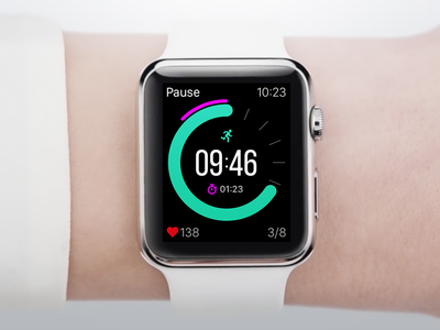 HIIT Timer for Apple Watch Concept
