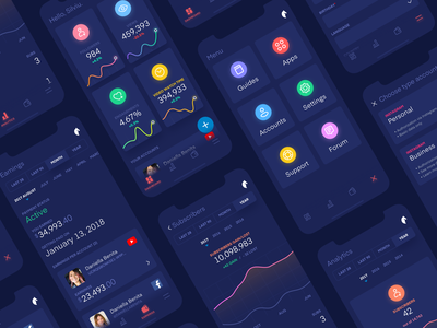 Creator Dashboard twitter twitch youtube ui dashboard feed mobile ux design ui interface mobile app ios analytics dashboard stats graph saas icons analytics design ui