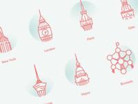 SavePotatoes.com Worldwide Clients Icons