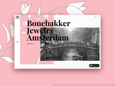 Bonebakker Jewellery Amsterdam design gif ui pack illustration uiux digitalagency dribbble mockup mockup design animation interaction digital website jeweller homepage webdesign web ux ui
