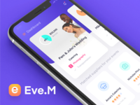 Eve.M - Event management app user flow wireframe ui guide visual design language color guide logo user experience user interface mobile ux mobile ui mobile app design mobile app event management event app event