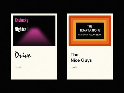 Nightcall Temptations typography type illustration music movies black poster