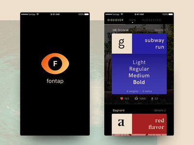 Fontap black dark blue fontap logo ios app typeface typography font