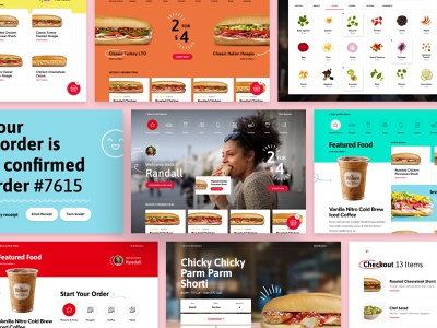 Wawa - Kiosk Collage food ordering food kiosk design system flexible layouts ui design desktop responsive ui design web design