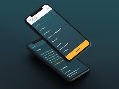 Center for Global Development Mobile Menu navigation menu institution responsive design policy advocacy thinktank academic ui design web design mobile