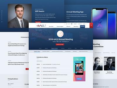 AALU Event insurance diversity event responsive association desktop web design ui design politics interior page advertising advocacy
