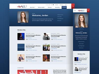AALU Member Profile advocacy advertising profile politics ui design web design desktop association responsive event diversity insurance