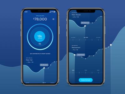 Financial Wellness  - Waves Concept