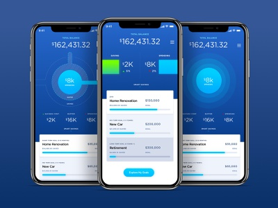 Financial Wellness - Hybrid Concepts watch apple watch mobile iphone data account application money design ux financial ios interface bank finance ui design mobile app credit savings checking