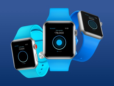 Financial Wellness - Circle Concept [Watch] mobile iphone apple watch watch checking savings credit mobile app ui design finance bank interface ios financial ux design money application account data
