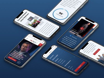 AALU Mobile Showcase advertising home page politics ui design web design desktop association responsive event diversity insurance advocacy blue