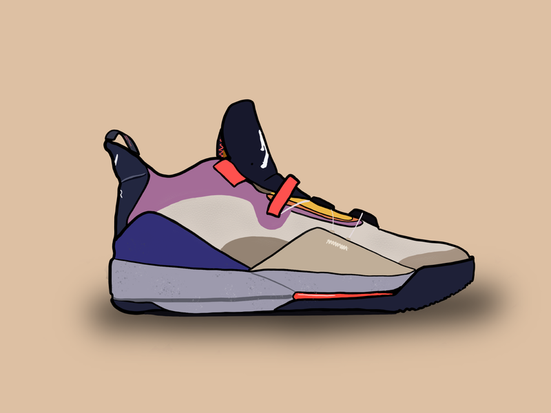 Quarantine Shoe Illustration #3 - Air Jordan XXXIII