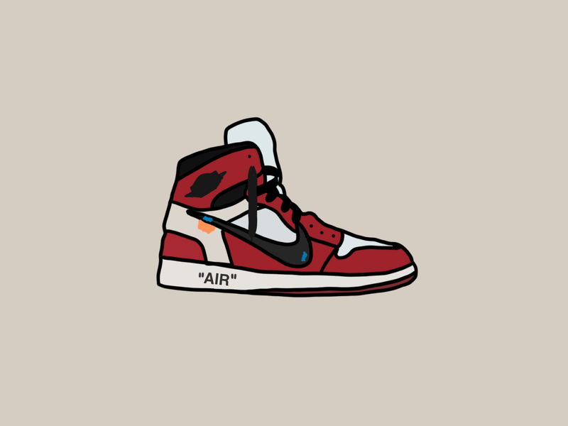 Quarantine Shoes #14 - Off-White Jordan 1