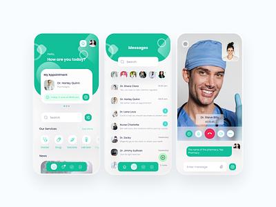 Medica Apps Concept gradient blur mobile app mobile ui design design app doctor hospital app health app health doctor app