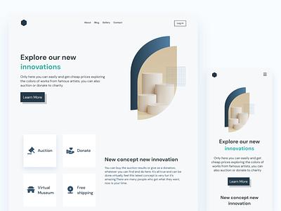 Simple Landing Page responsive web mobile responsive minimalist clean ux  ui ux design uidesign design web webdesign landingpage