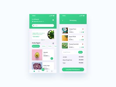 Grocery App green mobile shop app mart app market cart shop mart grocery app clean mobile app design design app ux  ui ux design uidesign design