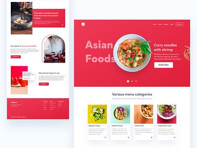 Selera - Food Landing Page clean ui clean minimalist gradient food food landingpage landingpage web website webdesign ui ux  ui design app ux design uidesign design