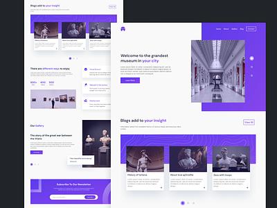Meseumu Landing Page ui user interface web ui webdesign website web purple gradient landingpage ux  ui design app ux design uidesign design