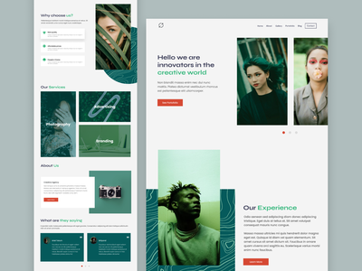 Creativa Landing Page user interface landing page agency green clean web webdesign website ux  ui design app ux design uidesign design ui