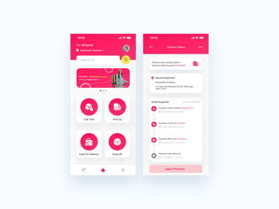 Delivhub App tracking app logistic package transport cargo shipping gradient ui mobile app design ux  ui design app ux design uidesign design mobile app delivery