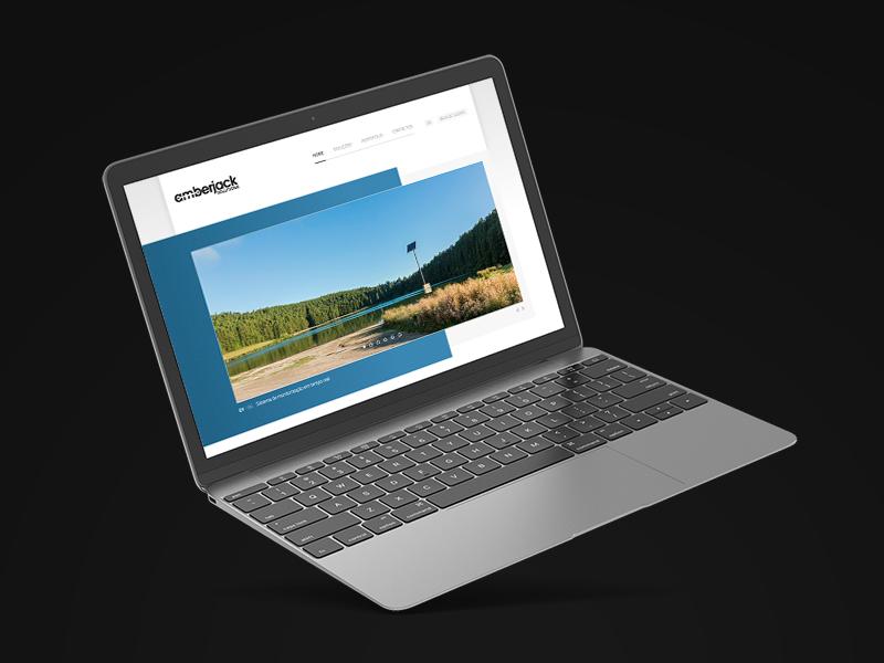 Amberjack Solutions Website responsive laptop mockup website web development web frontpage