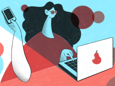 Keep Working artwork clean minimal person vectorart vector illustrator illustraion