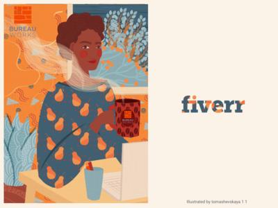 Illustration of color happy vectorart illustrator fiverr clean vector illustraion cool color art