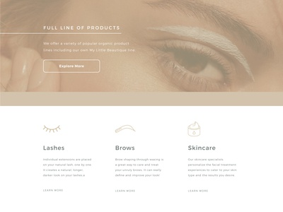 My Little Beautique Web Design