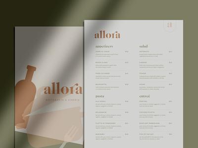allora menu