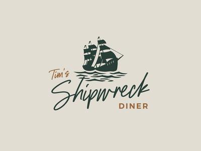 Tim's Shipwreck Logo