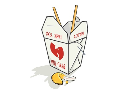 Wu-Tang You Very Much sticker cookie fortune asian takeout food chinese hiphop wutang wu