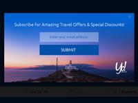 Modal Newsletter subscription