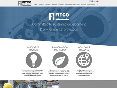 Metal Company Homepage futura bootstrap