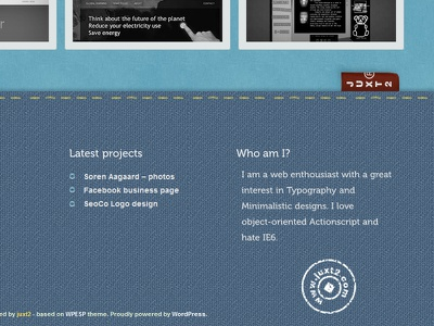 website footer fabric museo footer