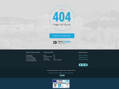 404 Page for Trip2athens roboto 404 page simple