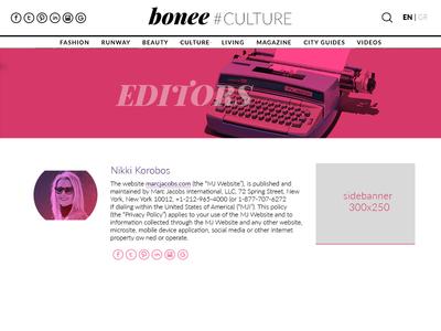 Fashion Website Editor Page gradient lato vibrant fashion