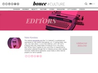 Fashion Website Editor Page