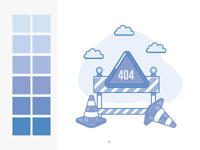 Error 404 trafic monochrome error 404 illustration