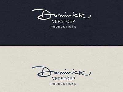 Dominick logo script typography