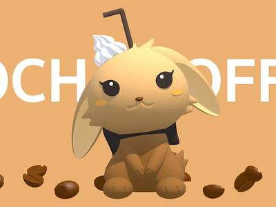 Coffee Rabbit 2.5d illustration coffee drink 3d art 3d rabbit toy design toy c4d design