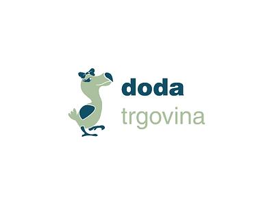 DODA trgovina / DODA Store organic cotton underwear clothes cartoon character shop online store croatia bird dodo slavonia brod slavonskibrod sb identity branding logo