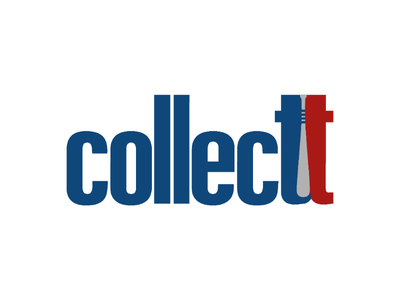 Logo redesign for Collectt collectible memorabilia basketball bat football hockey baseball sport graphic freelance professional illustrator project comission vector custom logo identity brand design