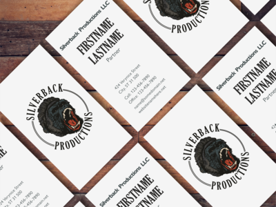 Silverback Productions business card version 1