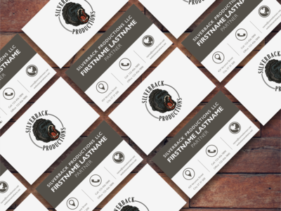 Silverback Productions business card version 2