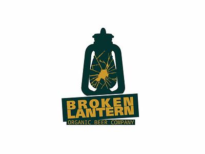 Broken Lantern logo lager freelance organics yellow stout apa ipa pilsen pilsner brewery green beer branding logo lantern broken modern craft organic brew beer