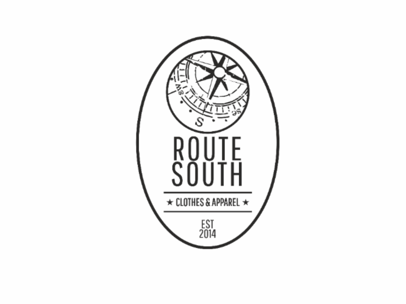 Route South logo #1 blue usa label tshirt south route clothing brand logo
